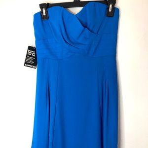 Short blue skater dress